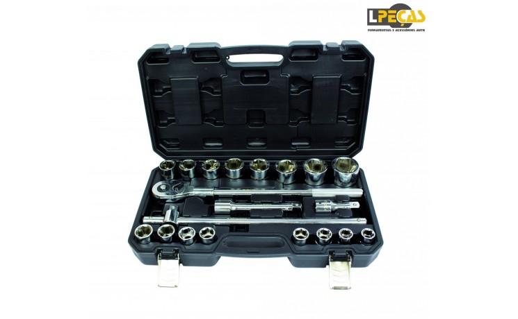Jogo Chaves de Caixa 3/4 6PT - 19 mm a 50 mm - 21 PCS