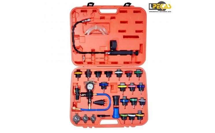 Promo Kit Teste Pressão/ Fugas Radiadores - 27Peças - Oferta de Portes